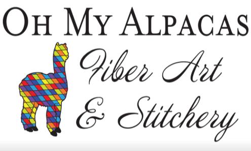 Oh My Alpacas Fiber Art & Stitchery · Shirsty Cat Designs